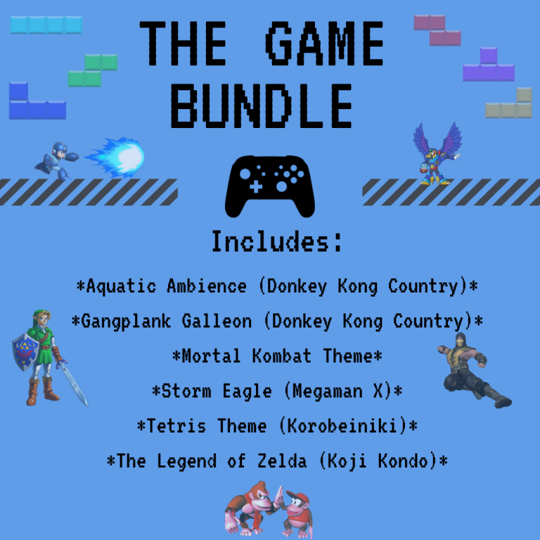*THE GAME BUNDLE* All Game Soundtracks From The Store – Classical Guitar Arrangements by Luciano Renan