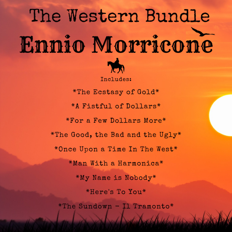 *THE WESTERN BUNDLE* All Ennio Morricone Themes From The Store – Classical Guitar Arrangements by Luciano Renan